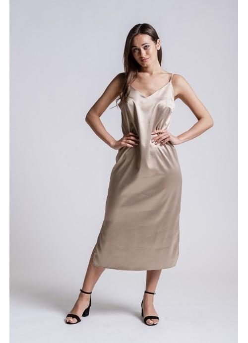 Платье 25587 бежевый