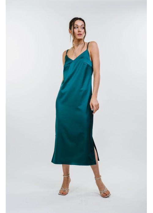 Платье 25587 зеленый