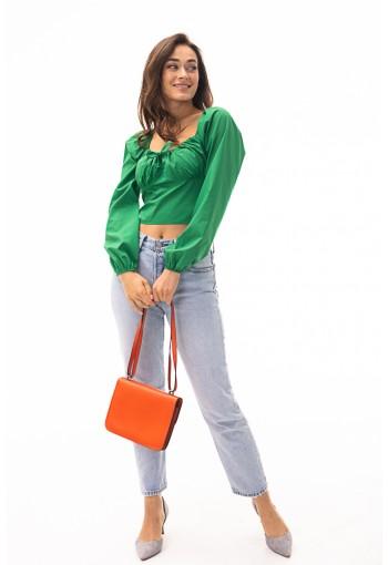 Блуза 26602 зеленый