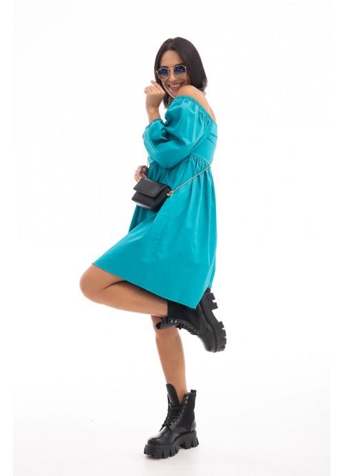 Платье 26653 бирюзовый