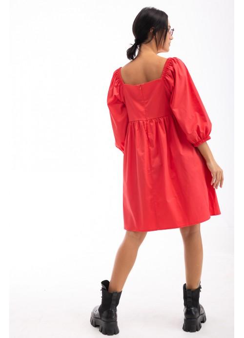 Платье 26653 коралловый
